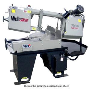Wellsaw Model No Metal Cutting Band Saw 8 Parts Manual